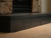 concrete fireplace hearth