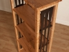 maple and metal bookcase