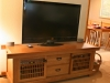 white oak entertainment console